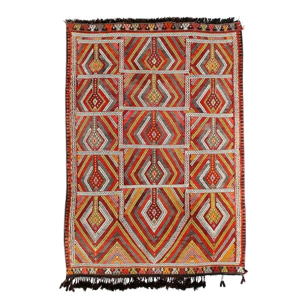 Circa 1940's Turkish Kilim Rug - 4′5″ × 6′3″ - Image 1 of 5