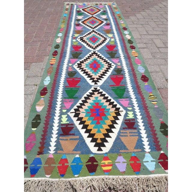 Vintage Turkish Kilim Runner Rug - Image 5 of 9