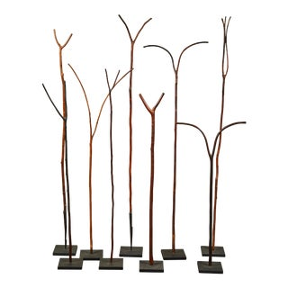 Ethiopian Pilgrim Walking Sticks - Set of 9 For Sale