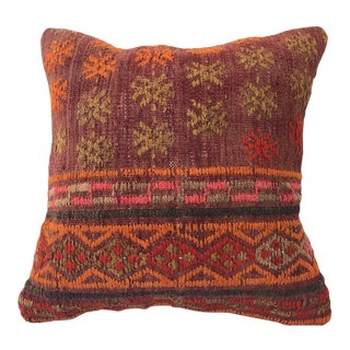 1960s Turksih Kilim Cushion Rug Pillow For Sale