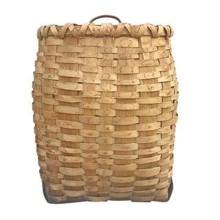 Early 20th Century Ash Splint Basket For Sale