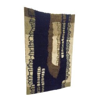 Mid Century Danish Wool Rya Rug For Sale
