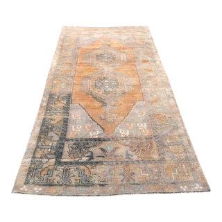 1970s Vintage Turkish Wool Runner Rug - 3′10″ × 8′4″ For Sale