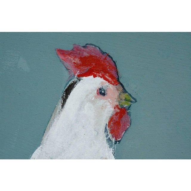 Canvas French Flowered Cow With Chickens Painting by Ira Yeager For Sale - Image 7 of 13