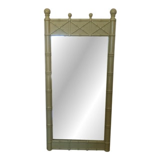 Drexel Kensington Faux Bamboo Mirror For Sale