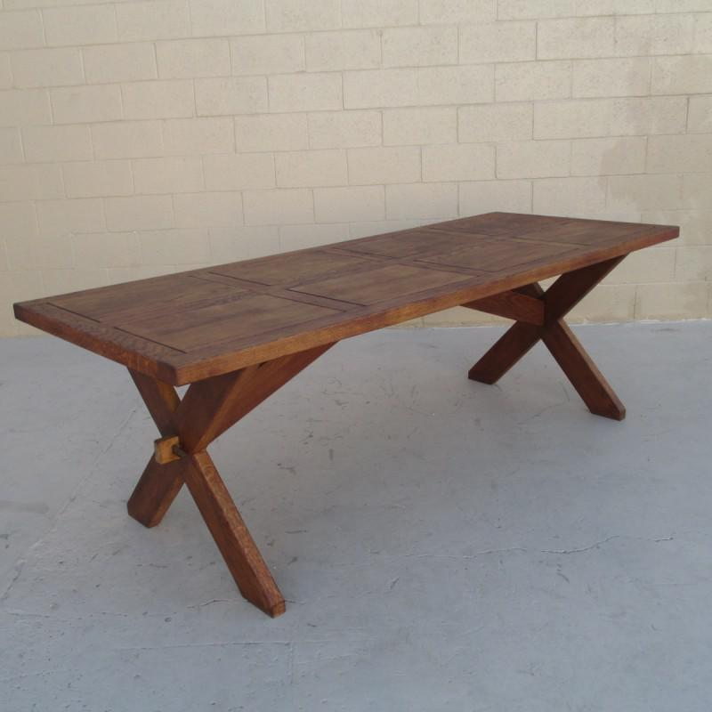 Merveilleux French Rustic Trestle Dining Table! This Handsome Table Is Made Of Solid  Oak, And