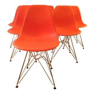 Eames Molded Plastic Dining Chairs - Set of 6