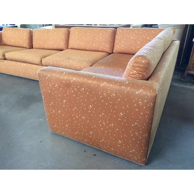 Milo Baughman Large Sectional Sofa with Pullout - Image 3 of 8