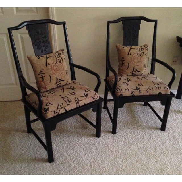 1970s 1970s Vintage Century Furniture Co Chin Hua Dining Armchairs- A Pair For Sale - Image 5 of 6