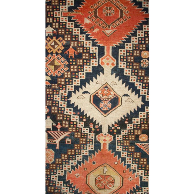 "Early 20th Century Karabagh Rug - 54"" x 113"" For Sale - Image 4 of 6"