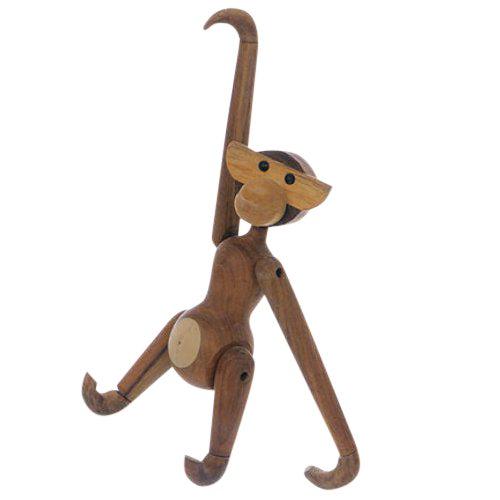 Vintage Carved Wooden Hanging Monkey - Image 1 of 10