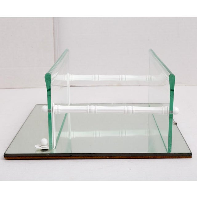 Hanging Mirror and Glass Shelf or Curio Display For Sale - Image 4 of 10