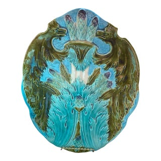 Antique French Majolica Dish For Sale