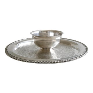 Oneida Wm. A Rogers Silver Chip and Dip Tray For Sale