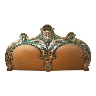 19th Century French Painted Headboard For Sale