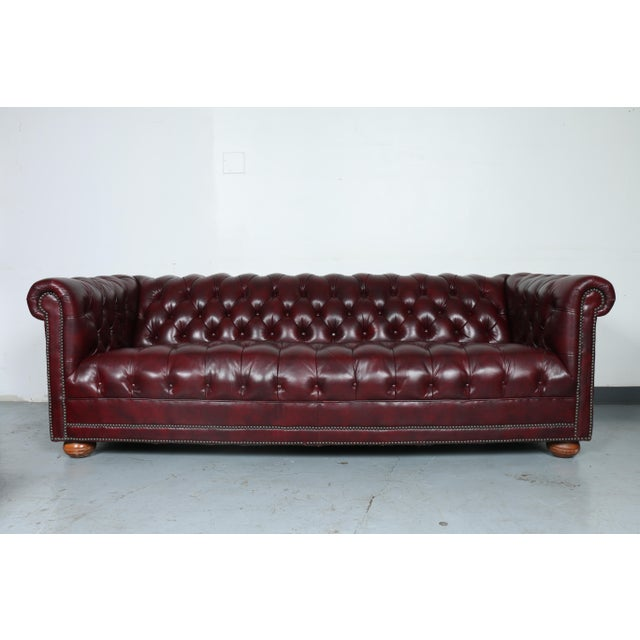 1970'S Burgundy Emerson Leather Chesterfield Sofa - Image 2 of 10