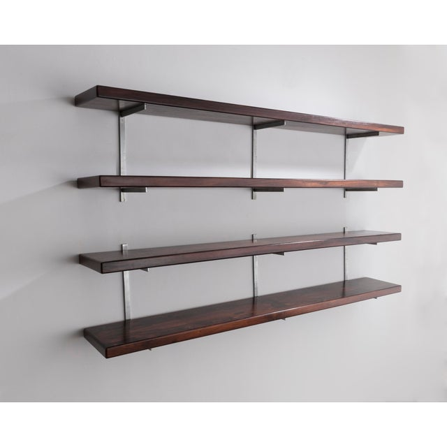 Sergio Rodrigues Wall-mounted shelves by Sergio Rodrigues, Brazil, 1960s. For Sale - Image 4 of 5