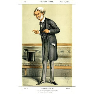"""1869 """"Lord John Manners"""" Vanity Fair Portrait Lithograph Print For Sale"""