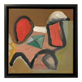 Black Floater Framed Contemporary Abstract Original Painting For Sale