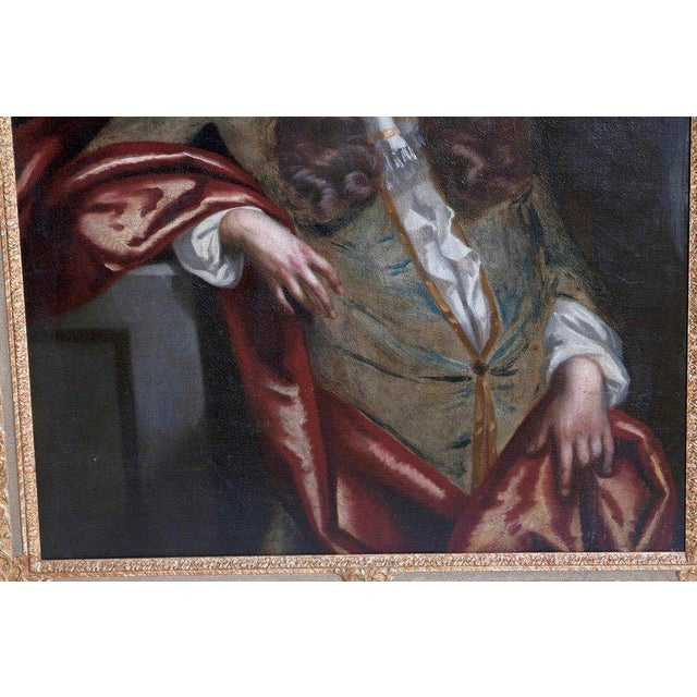 18th Century Oil on Canvas Portrait of an English Gentleman For Sale - Image 9 of 13
