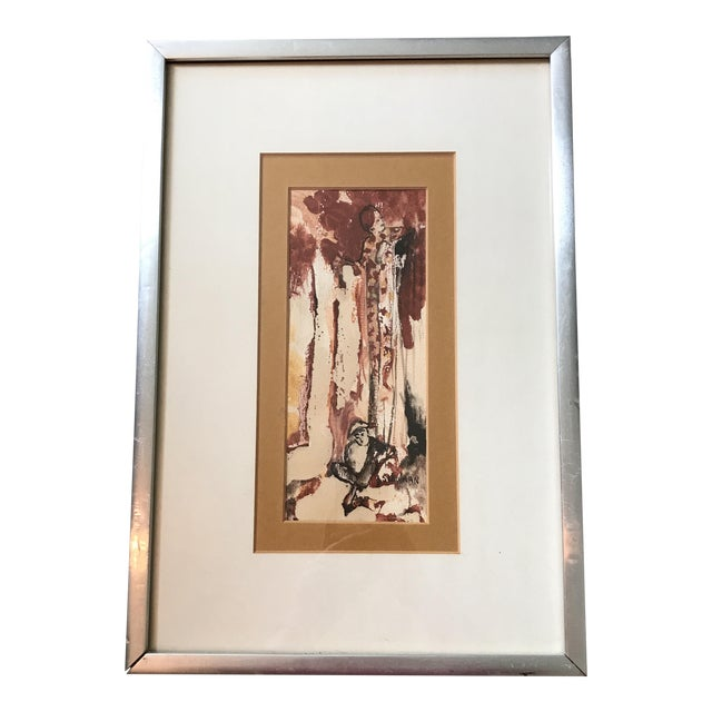 Vintage Watercolor of a Lady Signed Schulman For Sale