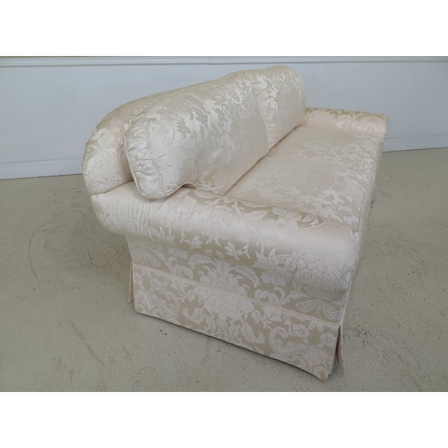 Silk Modern Ej Victor Silk Damask Upholstered Sofa For Sale - Image 7 of 11