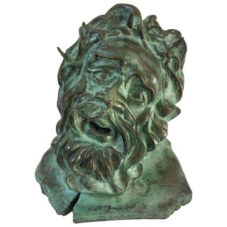 S. Lestage French Bronze Sculpture of Christ For Sale