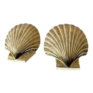 Vintage Pmc Shell Bookends - a Pair For Sale