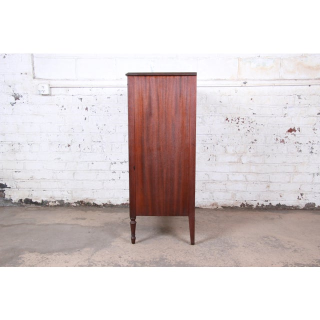 Early John Widdicomb Flame Mahogany Highboy Dresser, Circa 1920s For Sale - Image 11 of 13