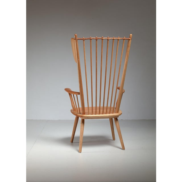Albert Haberer Wingback Armchair, Germany, Circa 1950 For Sale - Image 6 of 11