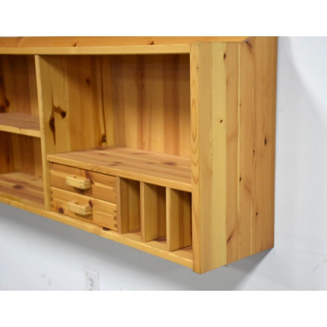 Mid-Century Modern Idé Møbler Solid Pine Hanging Bookshelf Cabinet Mid Century Modern For Sale - Image 3 of 8