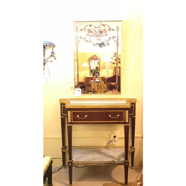 Russian Neoclassical Style Console/Server or Commode With Marble Top For Sale - Image 4 of 13