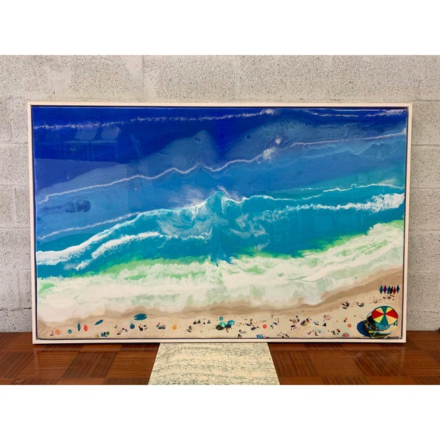Abstract Framed Oil Painting With Resin on Canvas by Franchy For Sale - Image 12 of 13