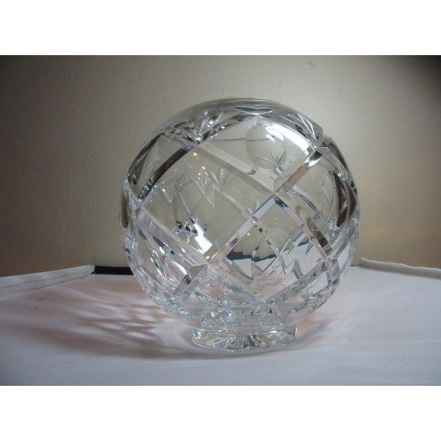 Clear Cut Crystal Rose Bowl Vase - Image 3 of 10