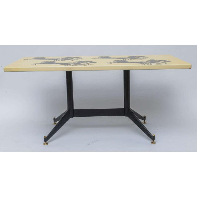 Italian Piero Fornasetti Bighe Coffee Table For Sale - Image 3 of 11