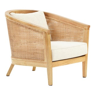 Valencia Club Chair, Beige, Rattan For Sale