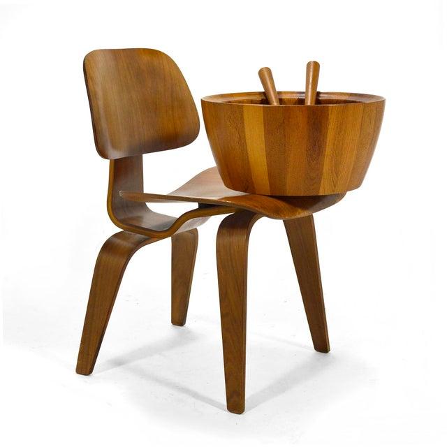 Oversize Staved Teak Bowl & Servers by Richard Nissen For Sale - Image 11 of 12