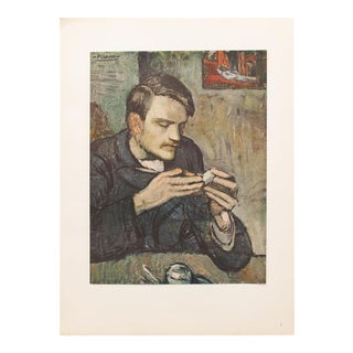 """1948 Pablo Picasso Original """"The Absinthe Drinker"""" Lithograph, With C. O. A. For Sale"""