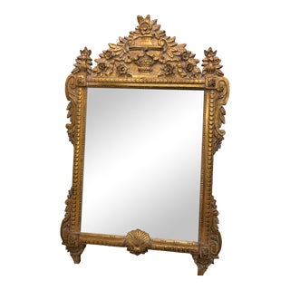 Late 20th Century Louis XVI Style Giltwood Mirror For Sale
