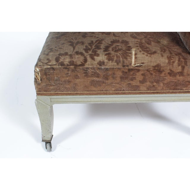 Late 19th Century Floral Upholstered Low Side Chair Napoleon III For Sale - Image 5 of 11