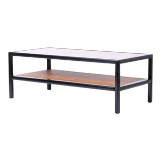 Baker Rectangular Two-Tiered Coffee Table For Sale