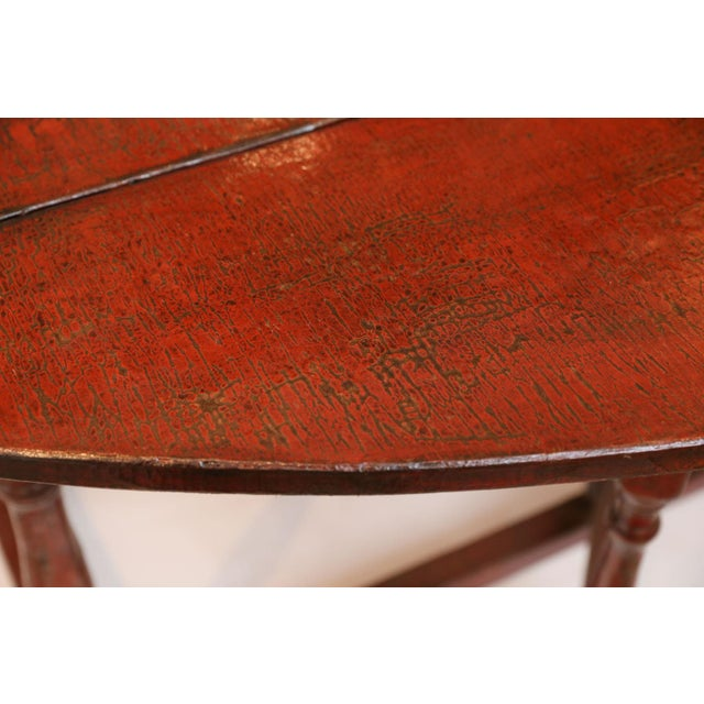 Lacquer Red Lacquered English Table For Sale - Image 7 of 13