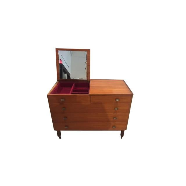 Italian Mid-Century Chest of Drawers With Vanity Mirror For Sale - Image 13 of 13