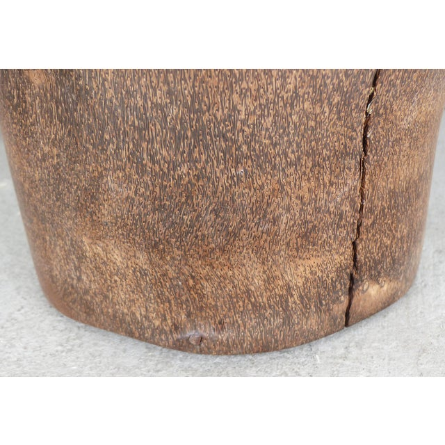 Organic Modern Palm Wood Umbrella Stand, Vessel or Vase For Sale In Miami - Image 6 of 7