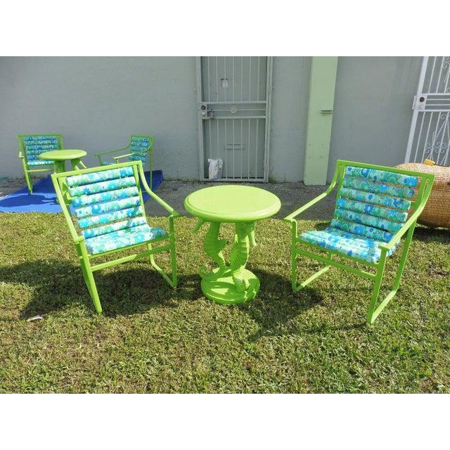 60's Vintage Samsonite Wrought Iron Patio Set For Sale In Miami - Image 6 of 12