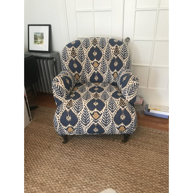 Boho Chic Upholstered Arm Chair For Sale - Image 3 of 6