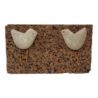 Whimsical Stone and Cork 'Bird' Sculpture For Sale