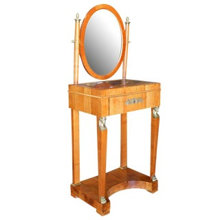 Period French Charles X Style Dressing Table or Vanity with Mirror For Sale