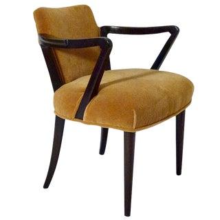 Edward Wormley for Dunbar Mohair Walnut Side Chair For Sale