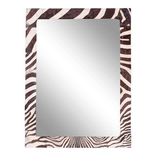Midcentury Zebra Hide Mirror For Sale